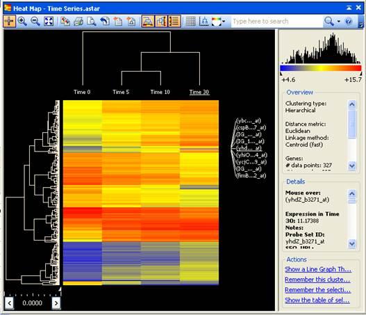 Heat scatter plot